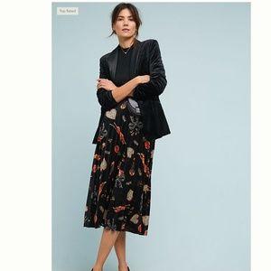 Anthropologie Maeve Montparnasse Skirt Velvet